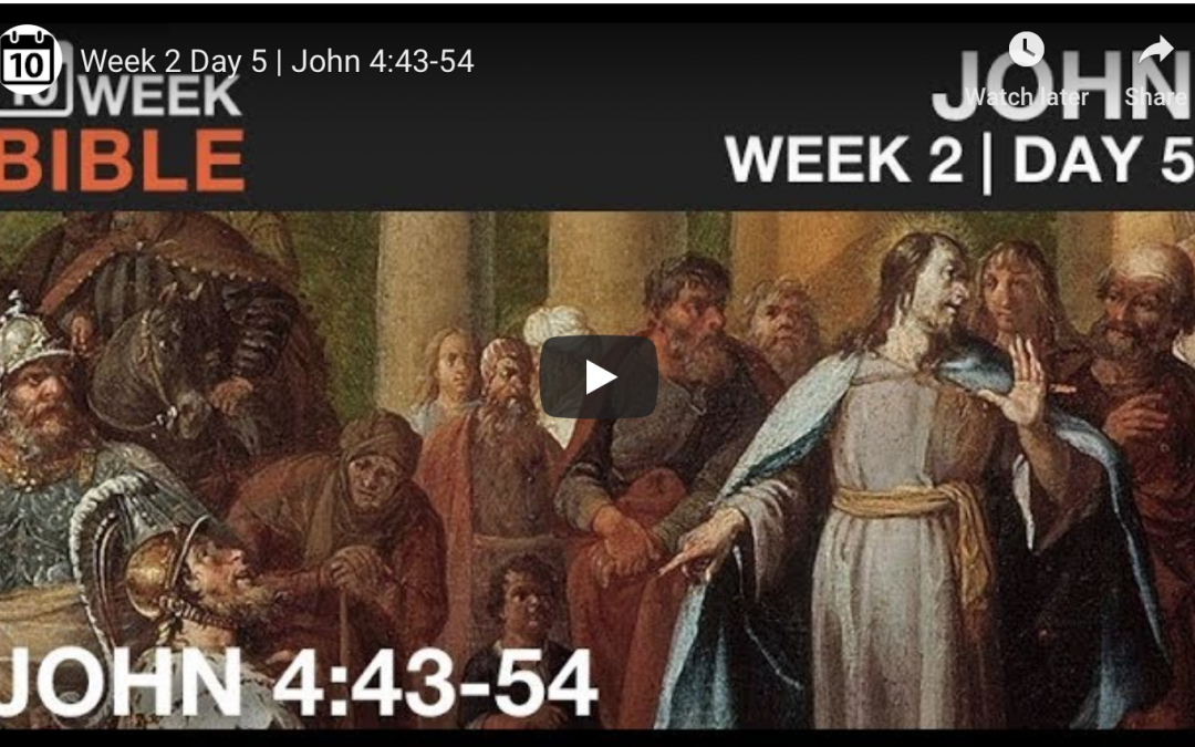 VIDEO | Week 2 Day 5 – John 4:43-54
