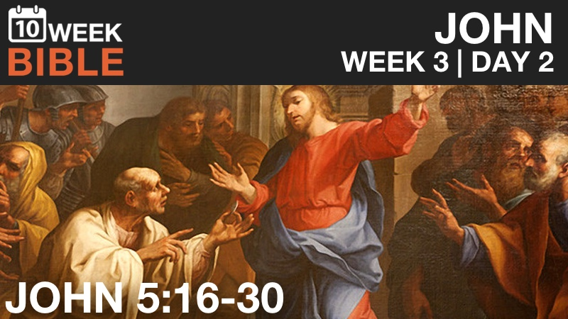 VIDEO | Week 3 Day 2 – John 5:16-30